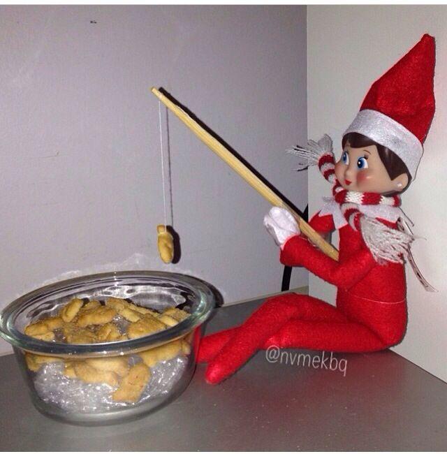 Elf on the shelf fishing chistmas pinterest for Elf on the shelf fishing