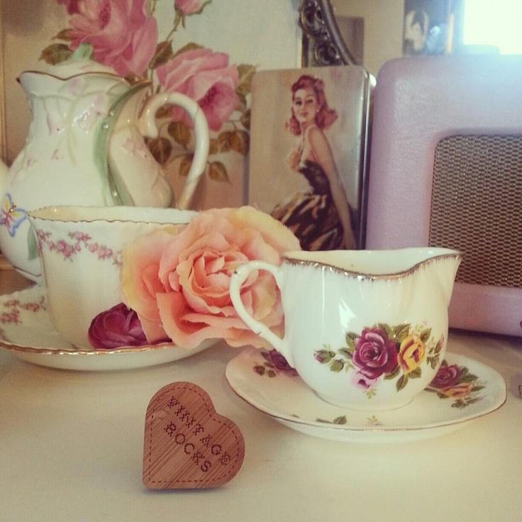 Oh So Adorable Vintage Tea Set : Vintage tea set  Tea Cups, Sets  Pinterest