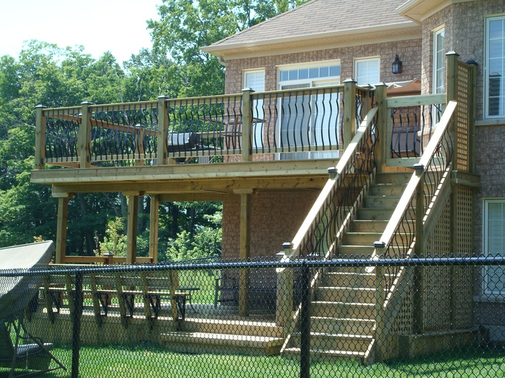 Pinterest for Two story deck design pictures