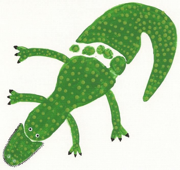 footprint alligator