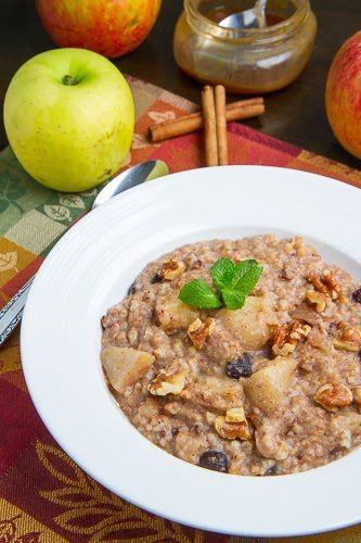 Slow Cooker Apple Pie Steel Cut Oatmeal   Recipe