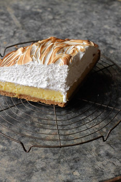 Lemon Meringue Pie with 'marshmallow' topping | Live to Eat