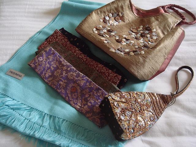 Beaded handbags from India