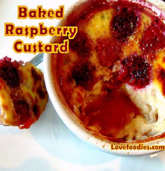 Baked Raspberry Custard You can try it with blueberries etc and see ...