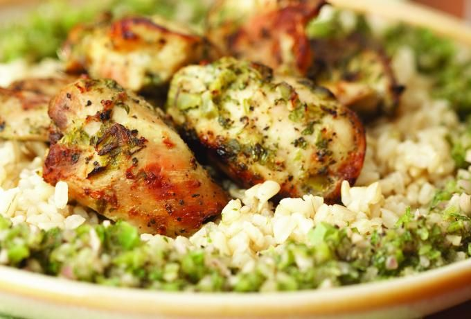 ... - Grilled Chicken with Chimichurri Sauce & Brown Rice » Chicken.ca