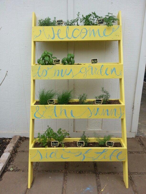 shelf raised herb garden great ideas pinterest