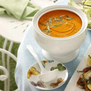 Carrot with orange and tarragon looks great on the Halloween party ...