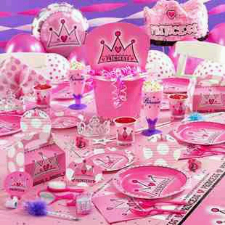 Table Set Up Princess Party Ideas Pinterest