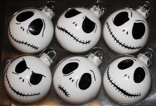 Jack Skellington Christmas Balls.