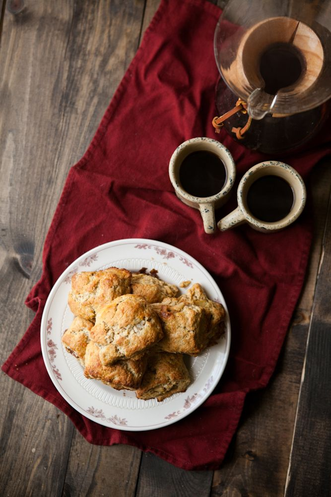 Apple-Pecan Whole Wheat Scones | sweet things | Pinterest