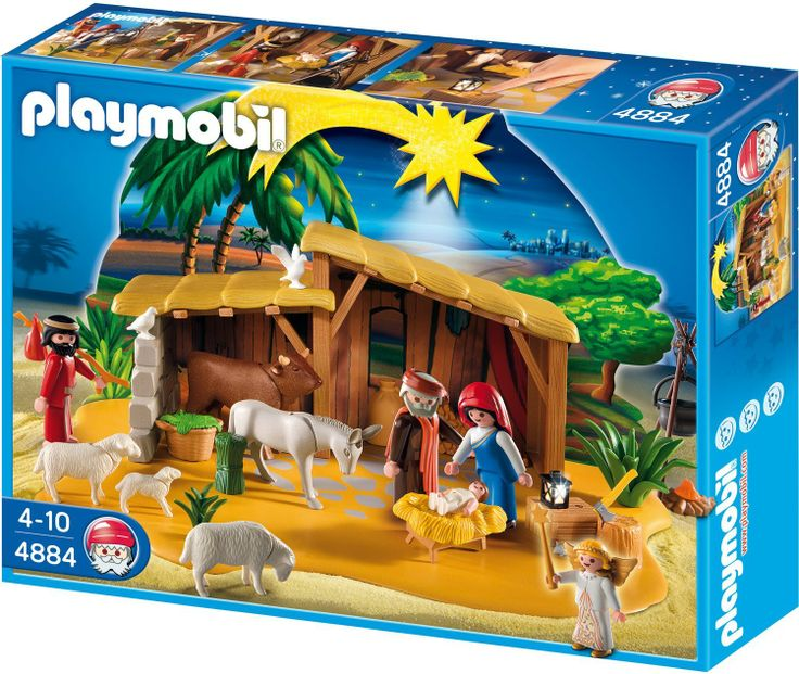 Playmobil nativity manger with stable nativities for Piscine playmobil