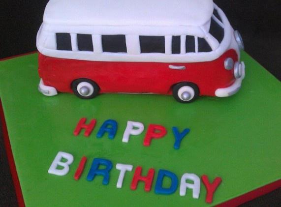 Volkswagen Bus cake Cake Deco Pinterest