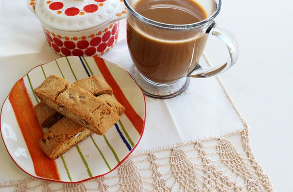 Eggnog biscotti with candied pecans www.biscuitgourmet.com www ...