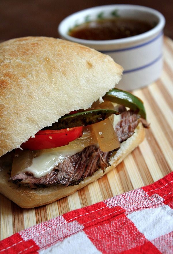 Slow Cooker French Dip Sandwiches - so easy, and such a family ...