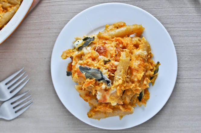 roasted butternut baked penne--how sweet it is. Absolutely delicious ...