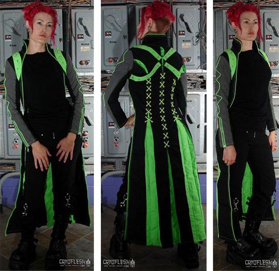 cyber goth jacket by cryoflesh cyber goth goodness