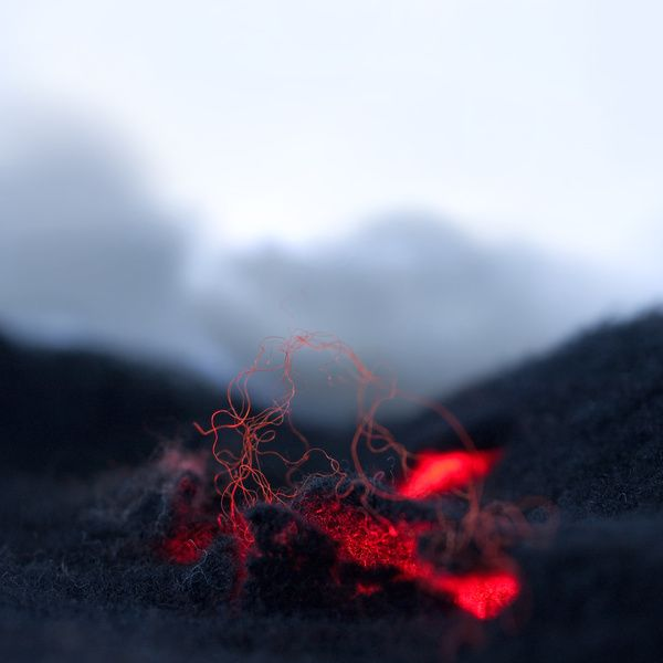 Eszter Burghardt uses wool and colored lights to create miniature natural landscapes including volcanoes, glaciers, fjords and rivers