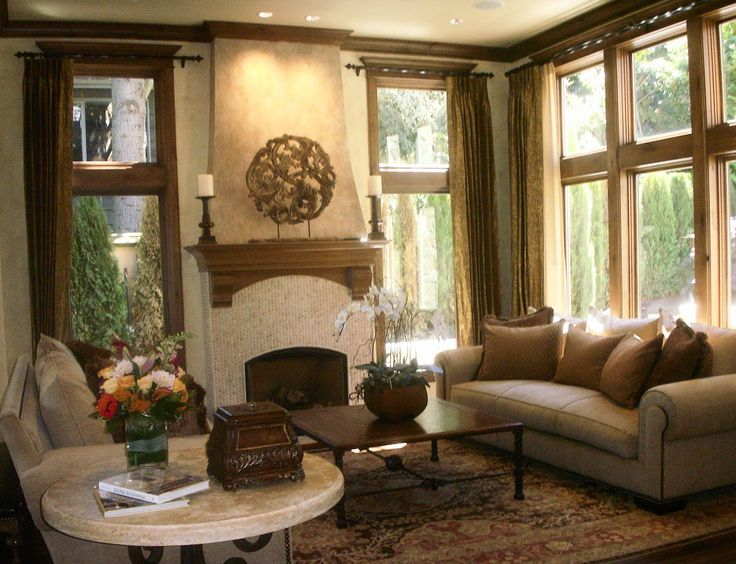 Living Room Tuscan Old World Architecture Pinterest