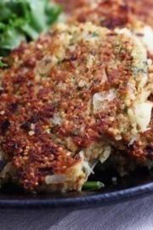Nutty Quinoa Cakes With Basil And Parmesan Recipes — Dishmaps