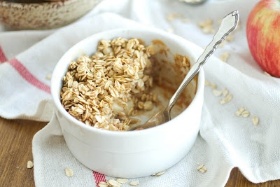 """Baked """"Apple Pie"""" Oatmeal - Skip the brown sugar, use stevia to ..."""