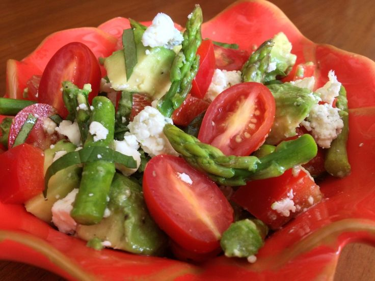 Asparagus Avocado Tomato Salad | Salads | Pinterest