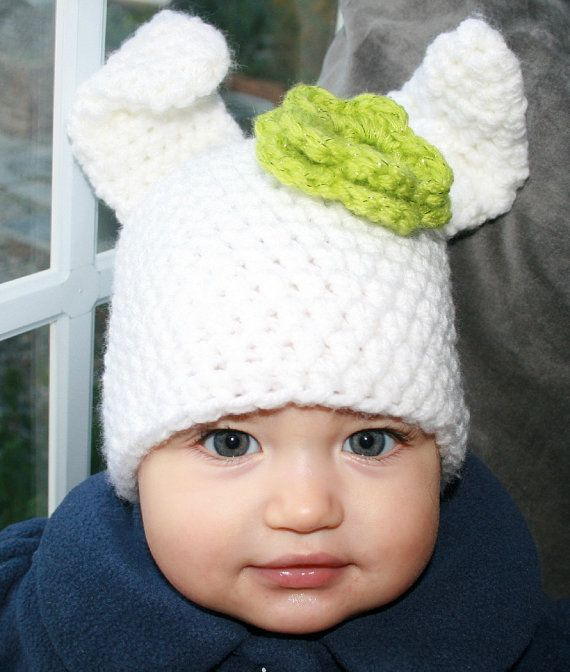 Crochet hat pattern crochet baby bunny rabbit hat pattern ...