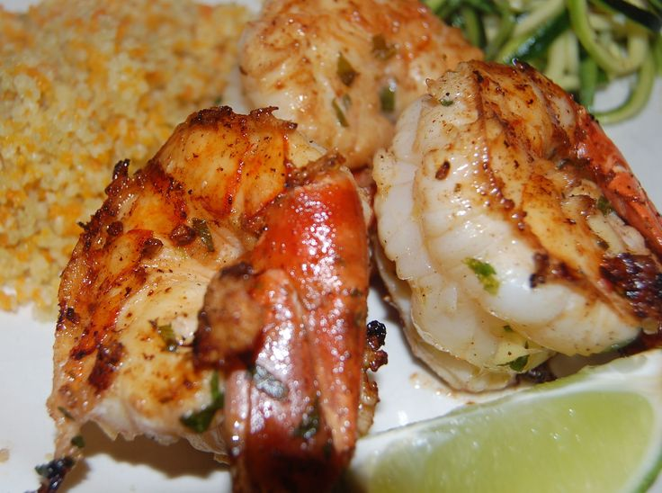 Grilled Shrimp With Honey-Ginger Barbecue Sauce Recipes — Dishmaps