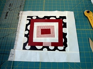 Wonky Log Cabin Quilt Block Tutorial