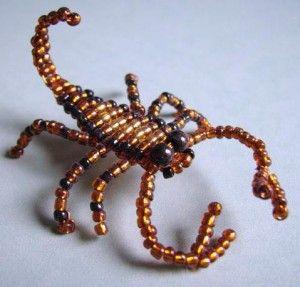 Поделки из бисера скорпион