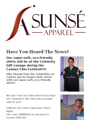 Celebs at Cannes Film Festival LOVE these shirts! Snatch up yours
