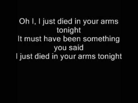 Песня i just died in your arms tonight скачать