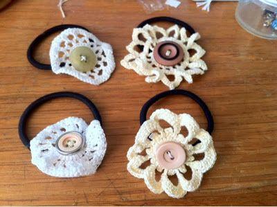 Crochet Hair Ties Pinterest : Crochet hair ties Crochet Pinterest