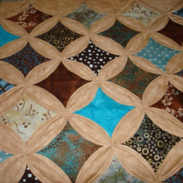 My 1st cathedral window quilt quilting pinterest for Window quilts