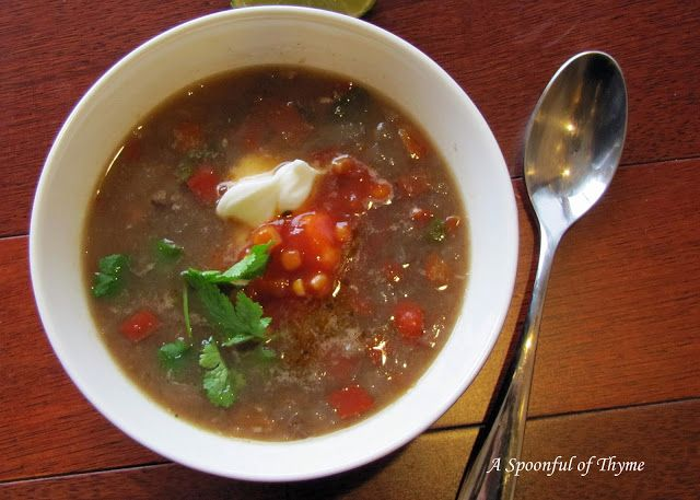 Spoonful of Thyme: Black Bean Soup with Chipotle Chiles featuring ...