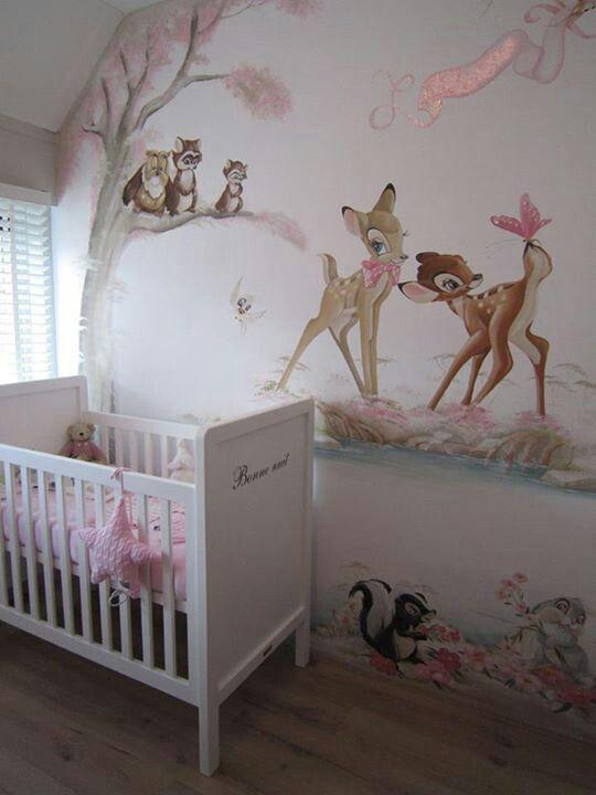 bambi wall mural muurschilderingen pinterest