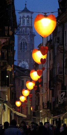 Street lights in Verona