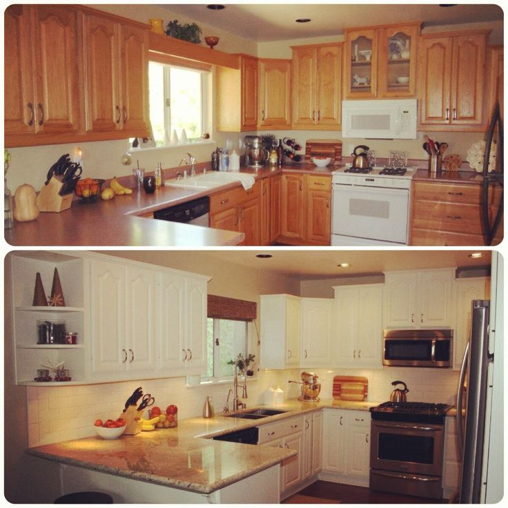 Before and after kitchen remodel texas style remodel for Home kitchen renovation