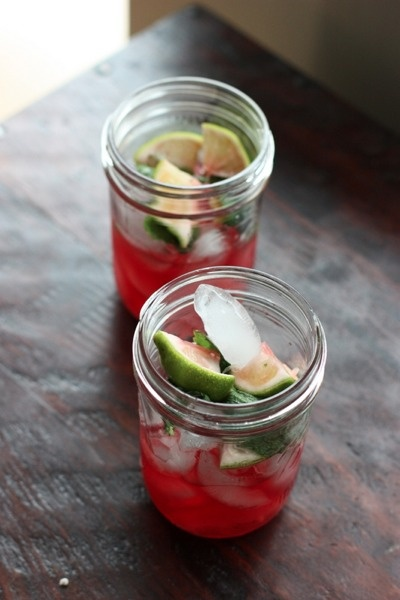 Pomegranate Mojitos - (double the pomegranate juice & simple syrup ...