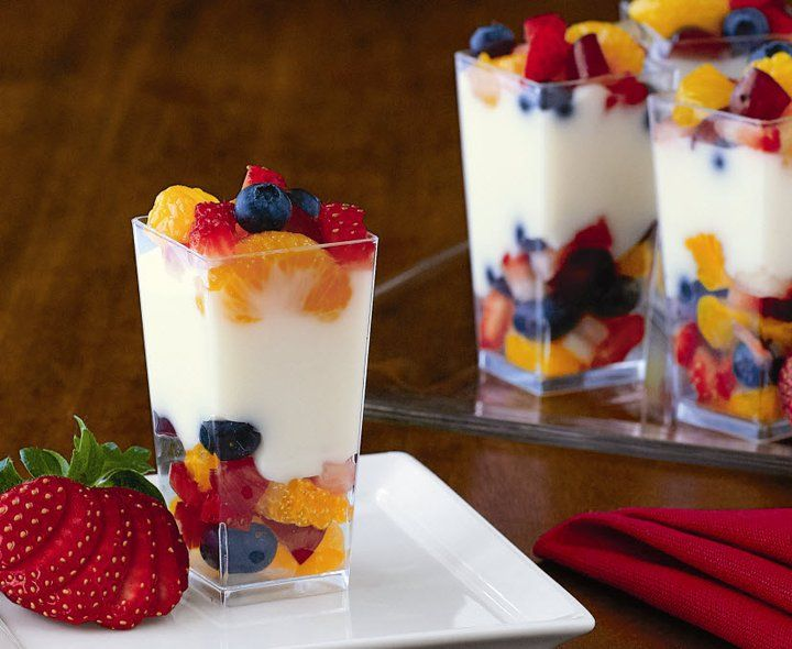 Mini Fruit & Yogurt Parfaits | It's her party | Pinterest