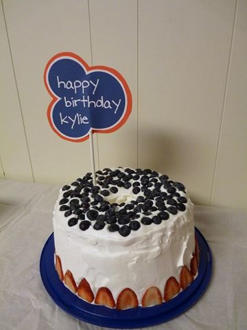 red white and blue angel food cake, red fish blue fish party ...