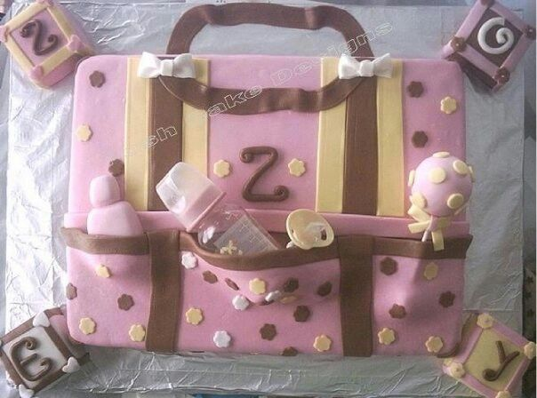 baby shower bag cake bottle pacifier rattle blocks and diaper bag cake ...
