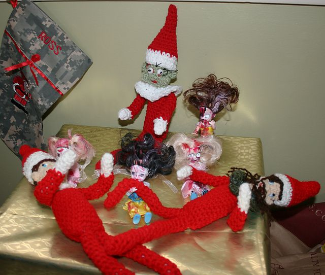 Zombie elf on the shelf my variations and then also the link to the