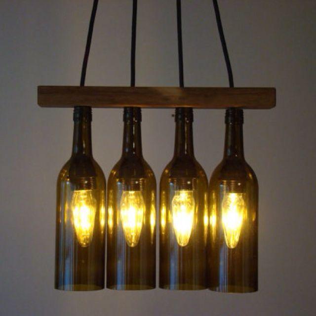 Wine bottle chandelier for the home pinterest - Wine bottles chandelier ...