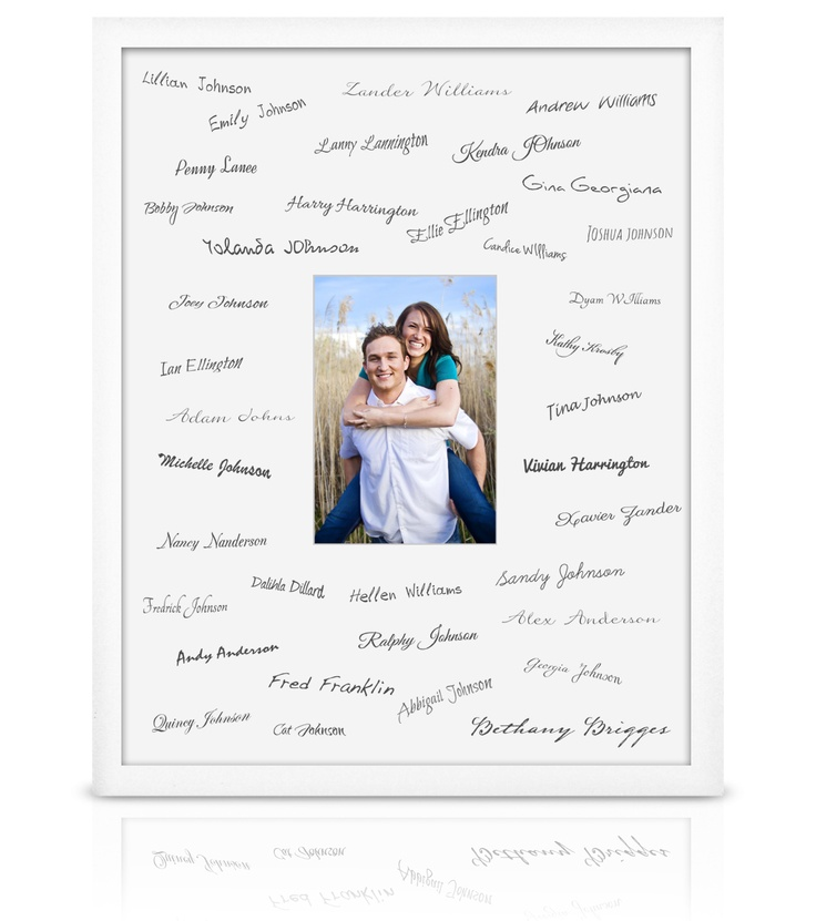 frame for all the guests to sign at the reception frame wedding