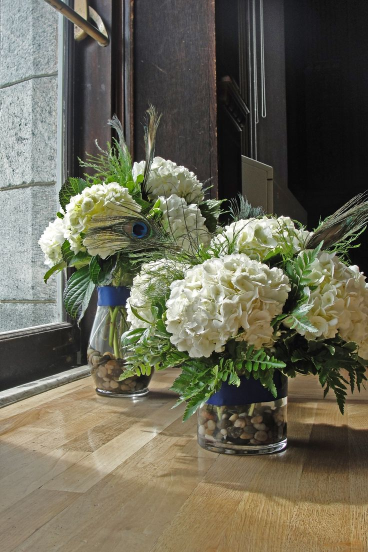 Hydrangea centerpieces reception pinterest