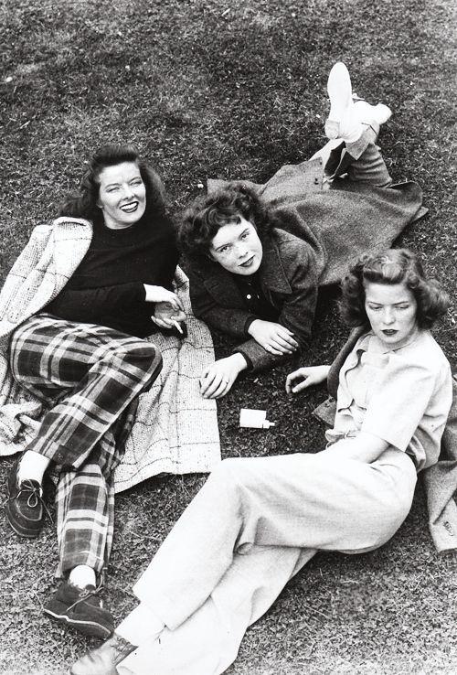 Katharine Hepburn with her sisters c. 1939 702 notes
