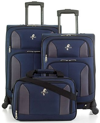 Atlantic indulgence 2 3-piece spinner luggage set lock