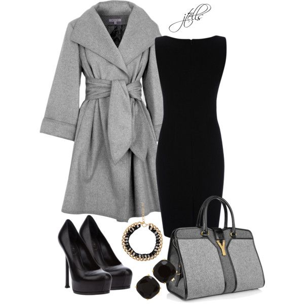 YSL Purse and Sheath Dress :)