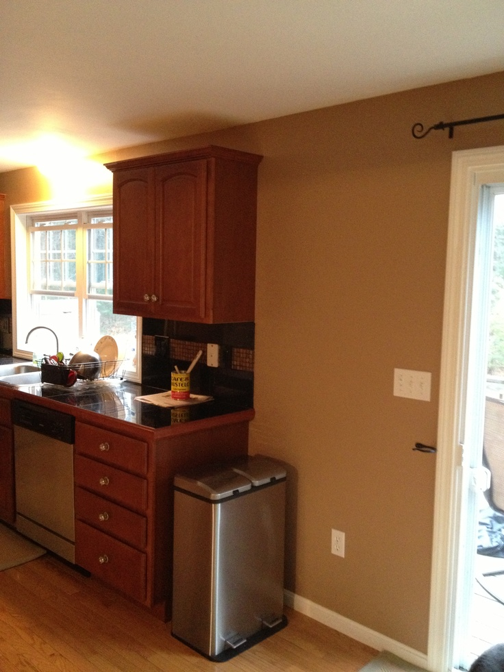 Behr stone brown our new kitchen color paint pinterest - Behr kitchen colors ...