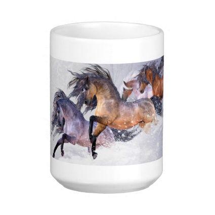 Winter's Flight Horse Mug